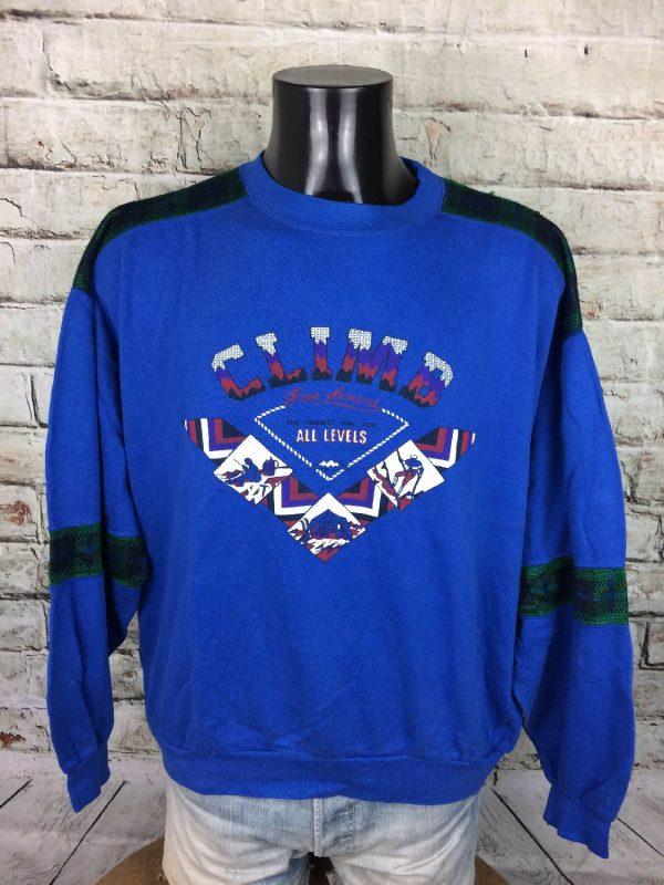 MILSPORT SweatShirt Made France Vintage 80s - Gabba Vintage