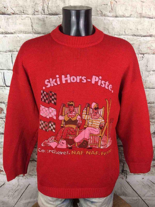 NAF NAF Pullover Vintage 80s Ski Hors Piste - Gabba Vintage