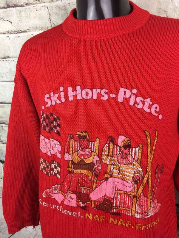 NAF NAF Pullover Vintage 80s Ski Hors Piste Gabba Vintage 3 - NAF NAF Pullover Vintage 80s Ski Hors Piste