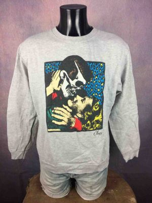 OBEY Sweatshirt Kiss Of Death Punk Fifties - Gabba Vintage