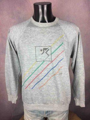 OLD CHAP Sweatshirt Vintage 80s Ski Design - Gabba Vintage