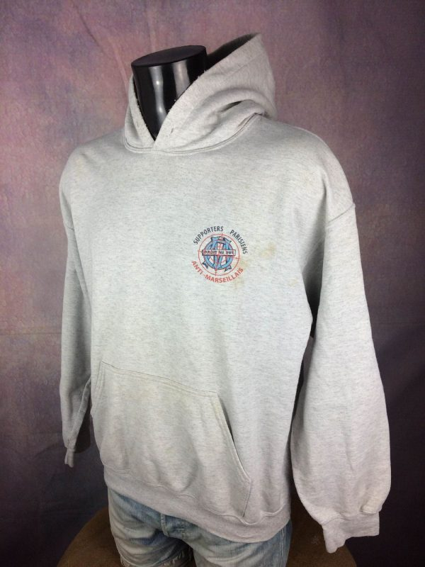 PSG Supporters Parisiens Sweatshirt Anti OM Gabba Vintage 3 - PSG Supporters Parisiens Sweatshirt Anti OM