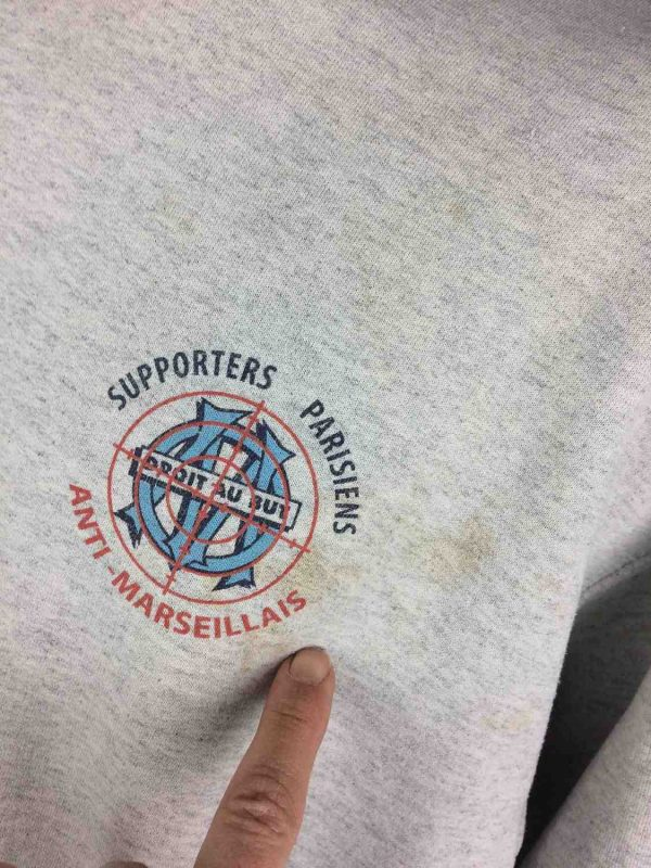 PSG Supporters Parisiens Sweatshirt Anti OM Gabba Vintage 4 - PSG Supporters Parisiens Sweatshirt Anti OM