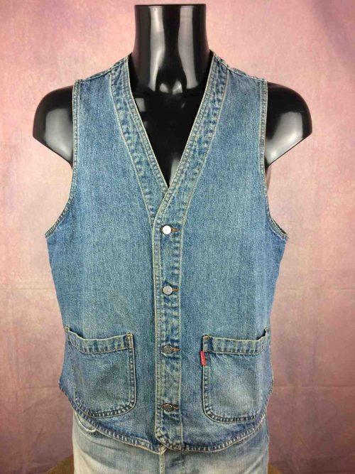 REDSON Gilet Vintage 90s Jeans Biker Rock - Gabba Vintage