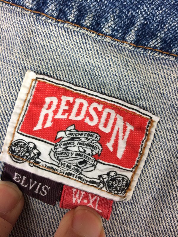REDSON Gilet Vintage 90s Jeans Biker Rock Gabba Vintage 5 rotated - REDSON Gilet Vintage 90s Jeans Biker Rock