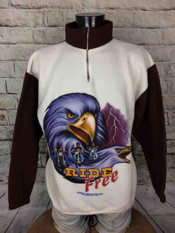 RIDE FREE Sweatshirt Vintage 90s France Biker - Gabba.. (2)