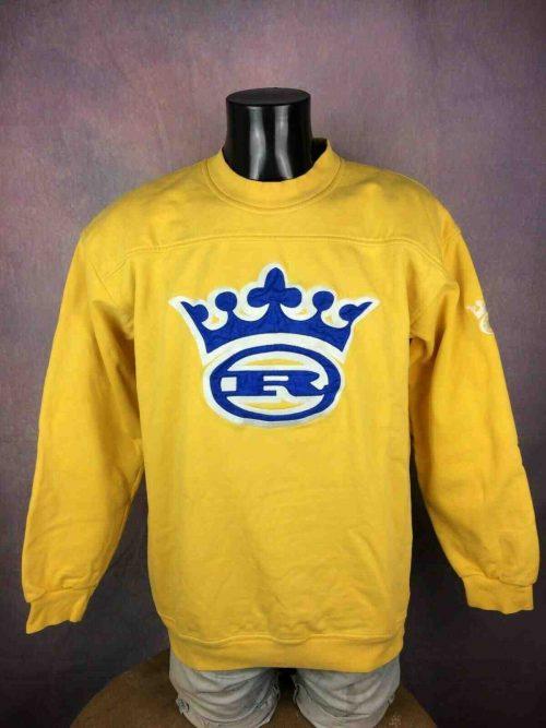 Sweatshirt Royal Wear, Véritable Vintage Années 00s,Streetwear, Taille XL, Couleur Jaune,Hip Hop Rap Sweater Sweat Homme