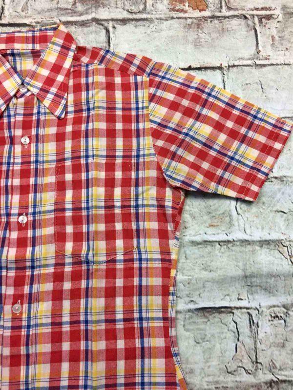 SEVENTIES Chemise Vintage 70s Carreaux Gabba Vintage 3 rotated - SEVENTIES Chemise Vintage 70s Carreaux