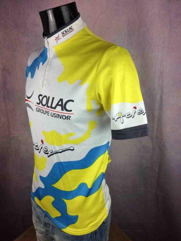 SOLLAC Maillot Au Tour de France Vintage 90s Gabba Vintage 2 - SOLLAC Maillot Au Tour de France Vintage 90s