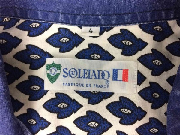SOULEIADO Chemise Vintage 80s Made in France Gabba Vintage 5 rotated - SOULEIADO Chemise Vintage 80s Made in France