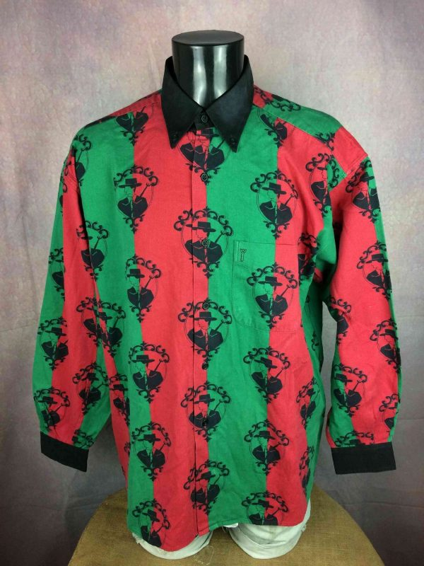 SOULEIADO Chemise Vintage 90s Made in France - Gabba Vintage (2)_resultat
