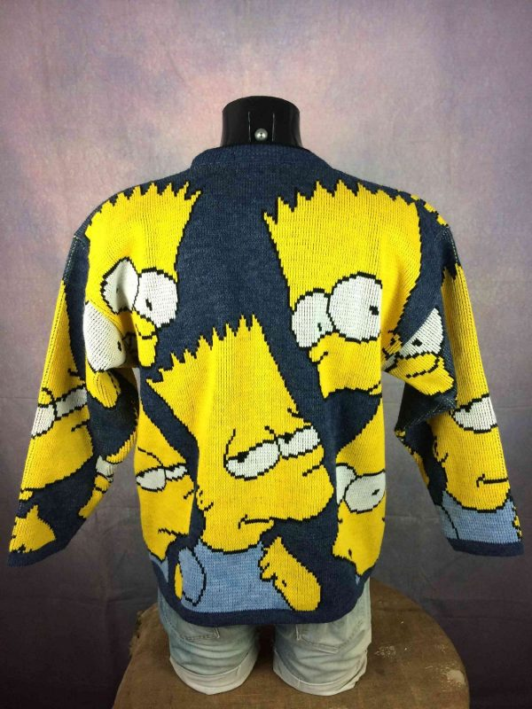 THE SIMPSONS Pullover Vintage 1998 Bart Laine Gabba.. 1 - THE SIMPSONS Pull Vintage années 90s daté 1998 Bart Laine
