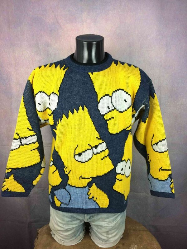 THE SIMPSONS Pullover Vintage 1998 Bart Laine - Gabba...
