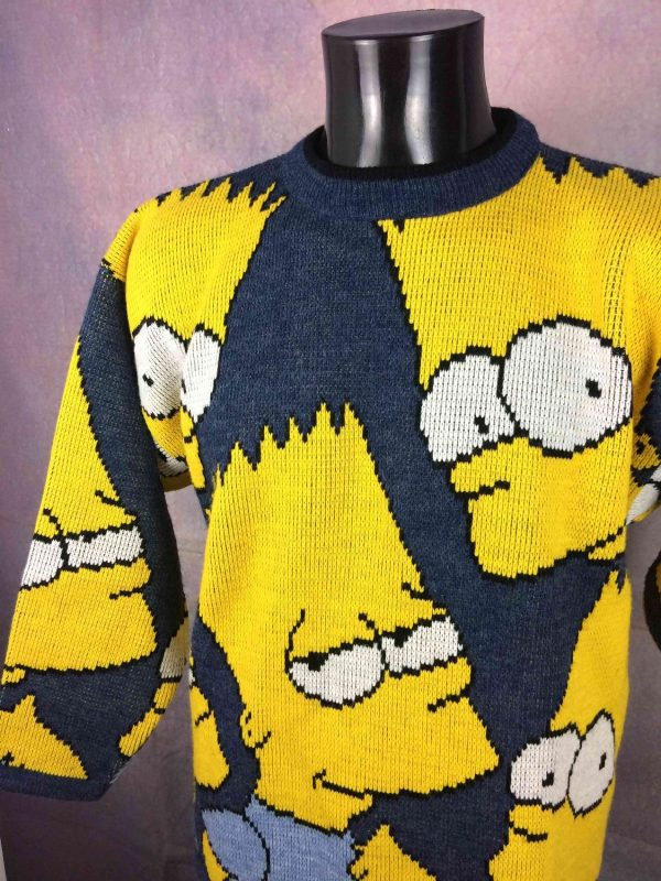 THE SIMPSONS Pullover Vintage 1998 Bart Laine Gabba.. 3 - THE SIMPSONS Pull Vintage années 90s daté 1998 Bart Laine