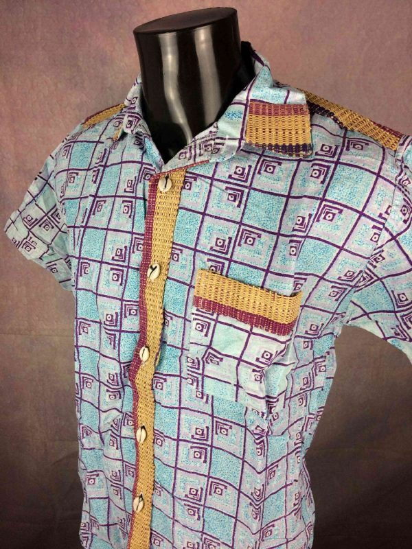 TRIBAL Chemise Coquillage Osier Vintage 00s Gabba Vintage 3 - TRIBAL Chemise Coquillage Osier Vintage 00s