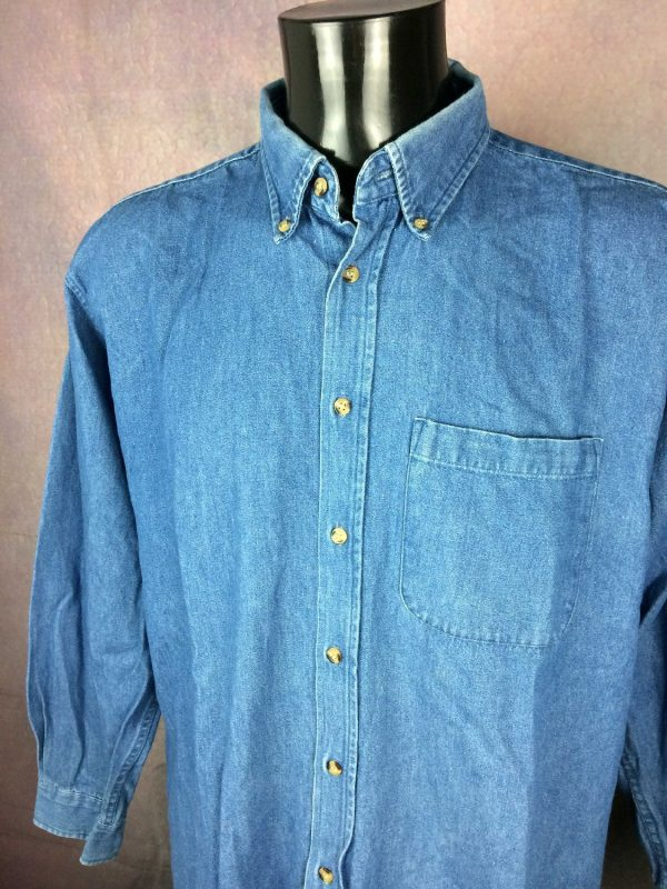 US BASIC Chemise Vintage 00s Jeans Denim - Gabba Vintage