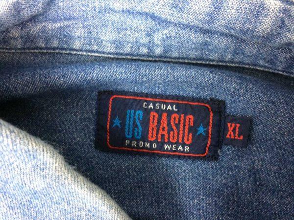 US BASIC Chemise Vintage 00s Jeans Denim Gabba Vintage 4 rotated - US BASIC Chemise Vintage 00s Jeans Denim
