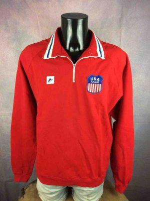 USA Team Sweatshirt AAAD Vintage 70s Sport - Gabba Vintage