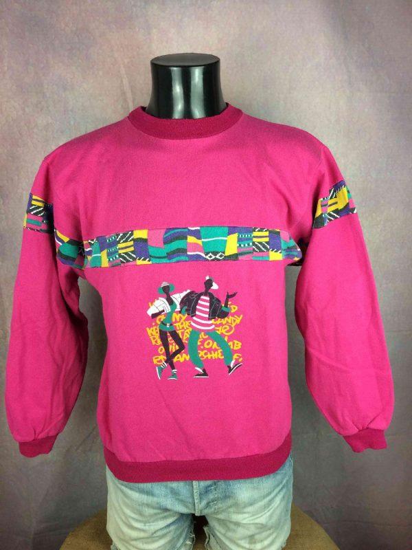 VINTAGE 80S Sweatshirt Made in France Hip Hop - Gabba...