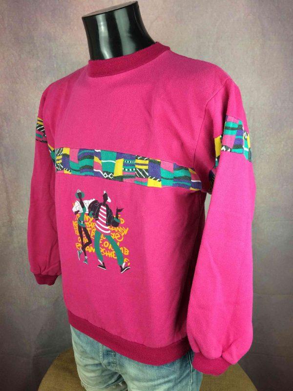 VINTAGE 80S Sweatshirt Made in France Hip Hop Gabba.. 2 - VINTAGE 80S Sweatshirt Made in France Hip Hop