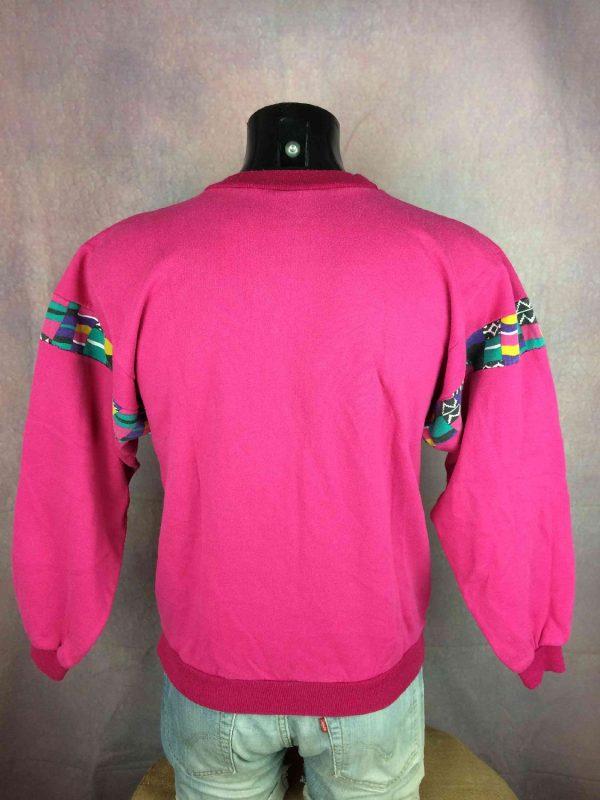 VINTAGE 80S Sweatshirt Made in France Hip Hop Gabba.. 3 - VINTAGE 80S Sweatshirt Made in France Hip Hop