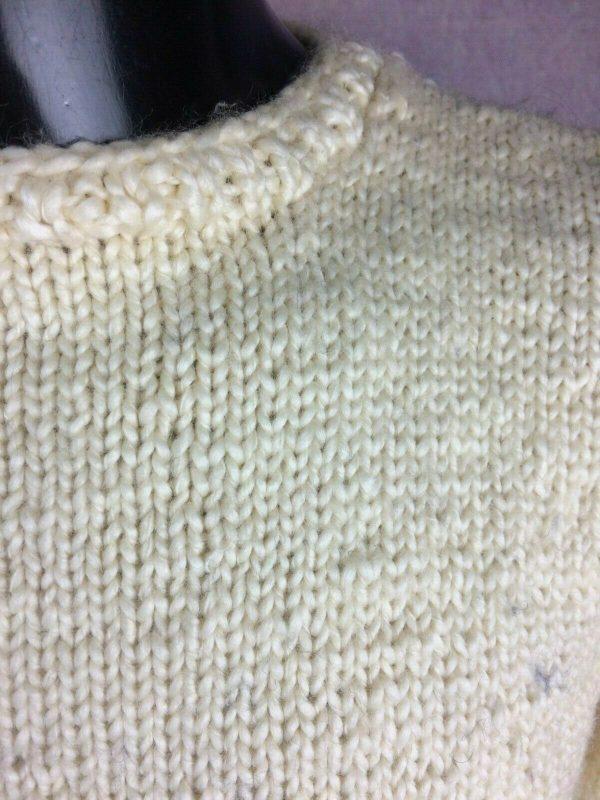 VINTAGE 80s Pullover Tricote Main Chaud 1kg Gabba Vintage 2 - VINTAGE 80s Pullover Tricoté Main Chaud +1kg