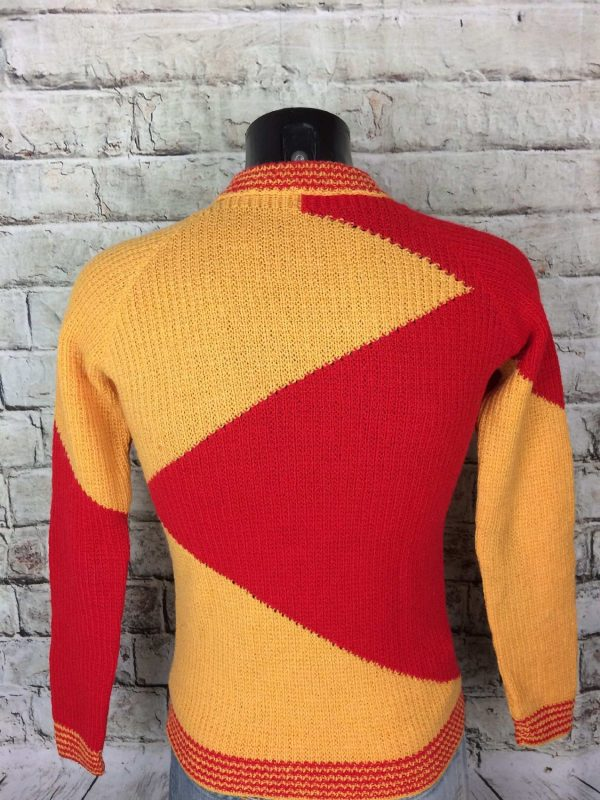 VINTAGE 80s Pullover Tricote Main Unisex Pull Gabba.. 1 - VINTAGE 80s Pullover Tricoté Main Unisex Pull