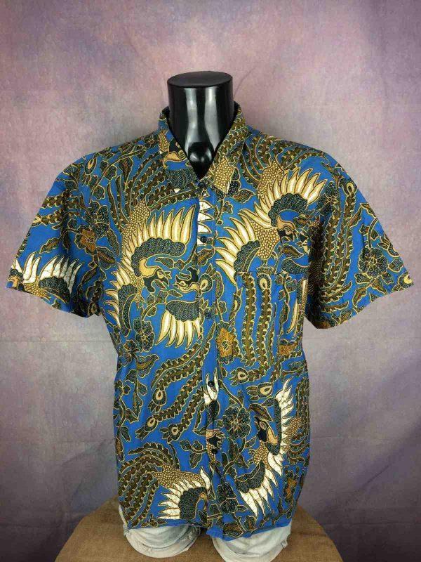 VINTAGE 90s Chemise Tribal Ethnic Design Art Gabba Vintage 2 - VINTAGE 90sChemiseTribalEthnic Design Art