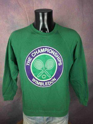 WIMBLEDON SweatShirt Vintage 80s Official - Gabba Vintage