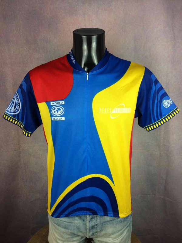 WORLD TEAM Maillot Pace Made USA Vintage 00s - Gabba Vintage