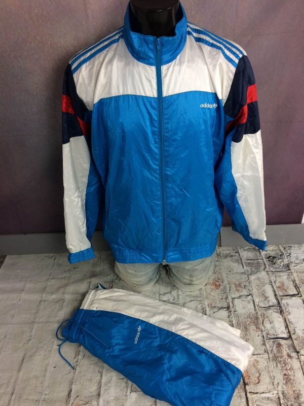 Adidas Survêtement Vintage 90s Trefoil Nylon - Gabba Vintage