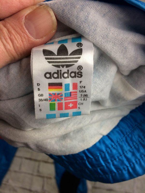 Adidas Survetement Vintage 90s Trefoil Nylon Gabba Vintage 12 - Adidas Survêtement Vintage 90s Trefoil Nylon