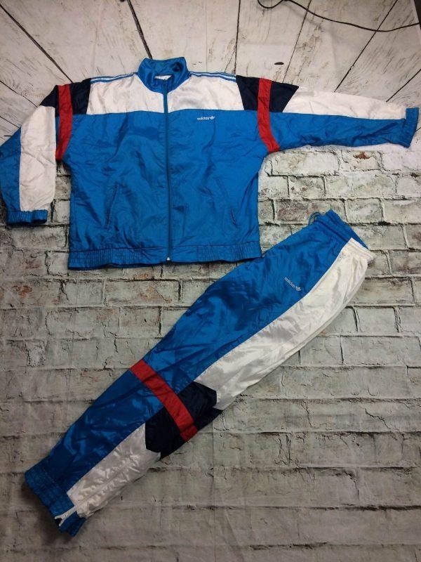 Adidas Survetement Vintage 90s Trefoil Nylon Gabba Vintage 2 rotated - Adidas Survêtement Vintage 90s Trefoil Nylon