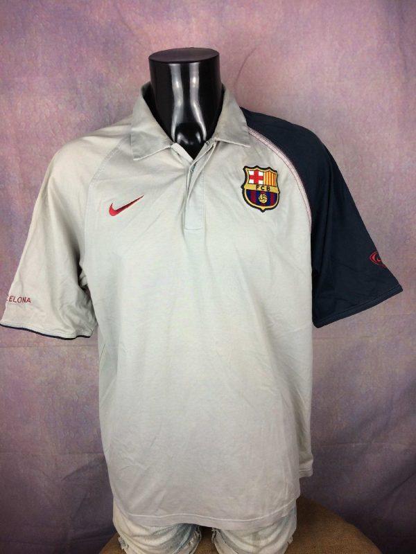 BARCELONA FC Polo Nike 90 Vintage 00s FCB Gabba Vintage 1 - BARCELONA FC Polo Nike 90 Vintage 00s FCB