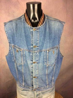 BLUMY 81 Gilet Vintage Année 90 Jeans Rock - Gabba Vintage (1)