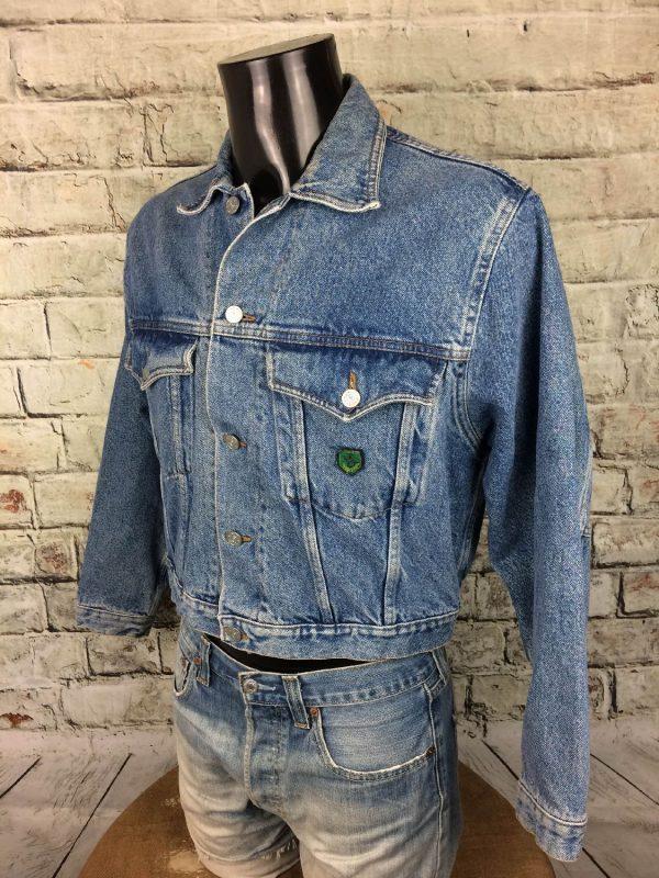 BOATING Veste Vintage Annee 80 Jeans France Gabba Vintage 4 - BOATINGVeste Vintage Année 80 Jeans France