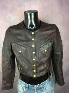 CASAMANCE EXPRESS Veste Vintage Annee 80 Cuir 2 - CASAMANCE EXPRESS Veste Vintage Année 80 Cuir