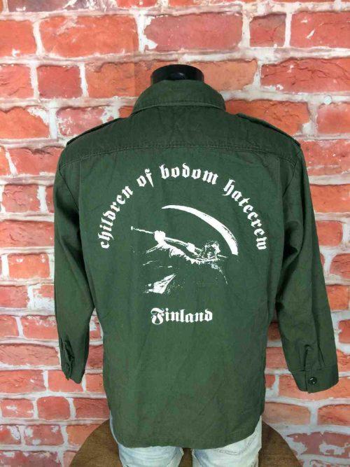 VesteCHILDREN OF BODOMHate Crew Finland, inscription face et visuel au dos, marque Shirt Tactical, veste armée, Heavy Death Metal Armée Jacket Chaqueta