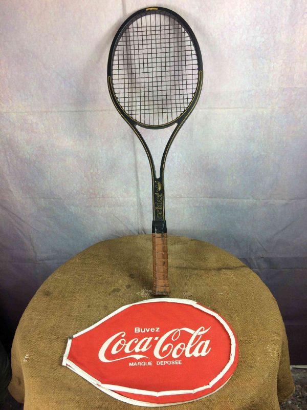COCA COLA Couvre Raquette Tennis Vintage 80s Gabba Vintage 5 - COCA COLA Couvre Raquette Tennis Vintage 80s