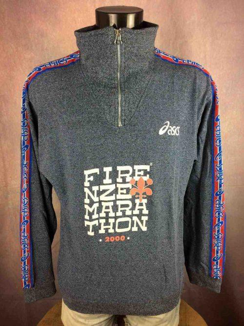 Sweat FIRENZE MARATHON édition 2000, Véritable vintage années 00, marque Asics ,Finisher Race Italy Sweater SweatShirt