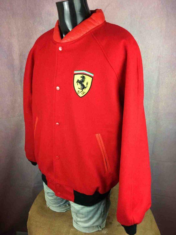 Ferrari veste 3 - Veste Ferrari Official Vintage Année 90 Laine