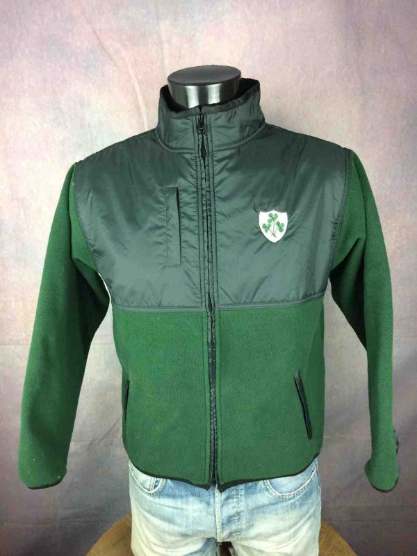 IRELAND Veste Laine Polaire Hiver Rugby Gabba Vintage 2 - IRELAND Veste Laine Polaire Hiver Rugby