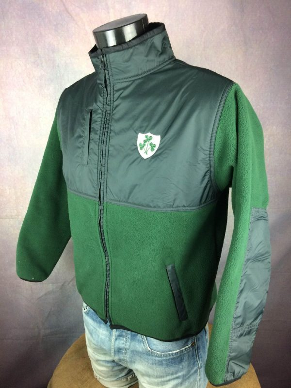 IRELAND Veste Laine Polaire Hiver Rugby Gabba Vintage 3 - IRELAND Veste Laine Polaire Hiver Rugby