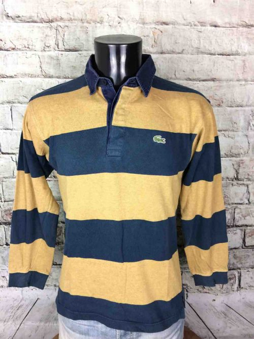 LACOSTE Polo Vintage 90s Devanlay Rayé Sport