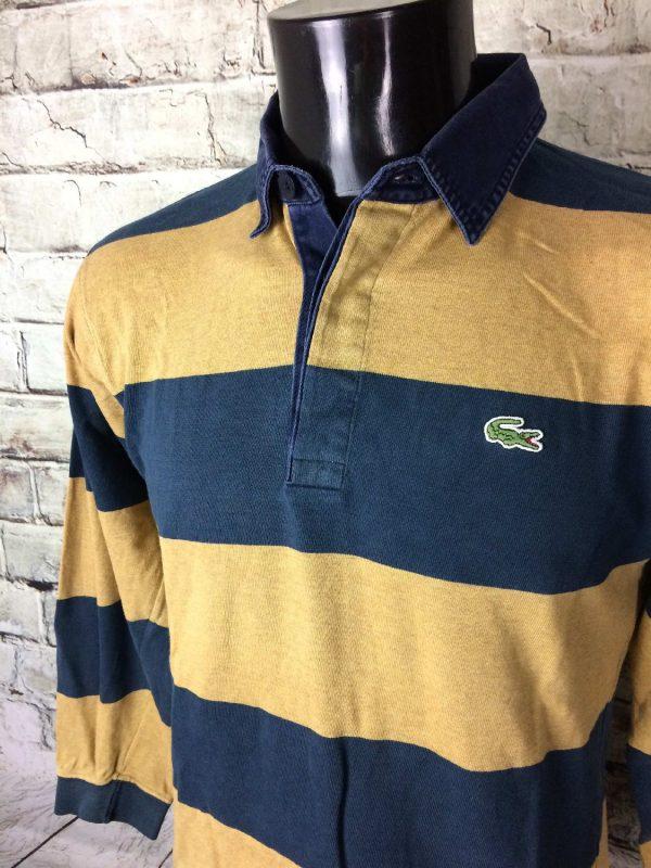 LACOSTE Polo Vintage 90s Devanlay Raye Sport 3 - LACOSTE Polo Vintage 90s Devanlay Rayé Sport