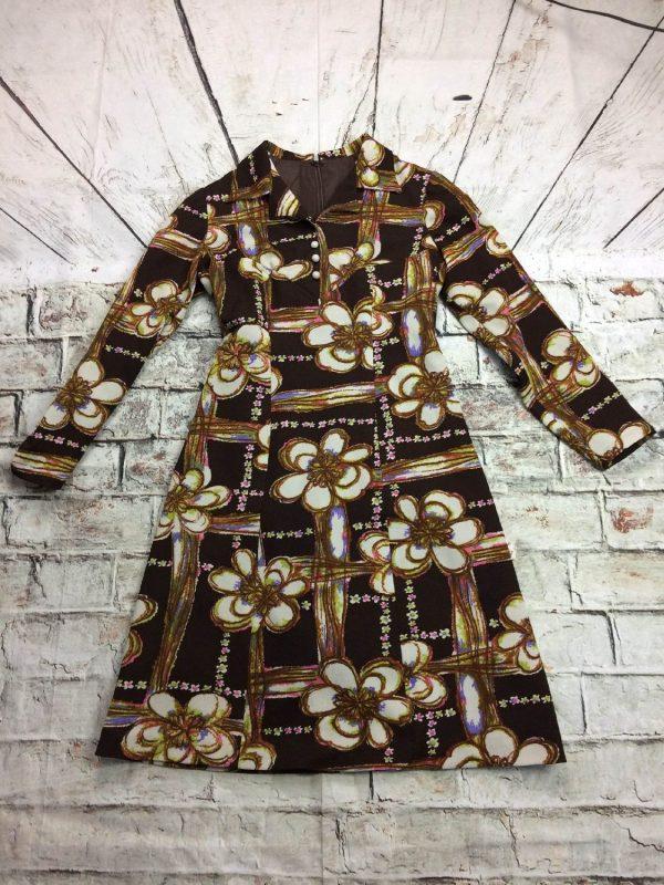 Robe Vintage Années 70 Fleurs Seventies - Gabba Vintage
