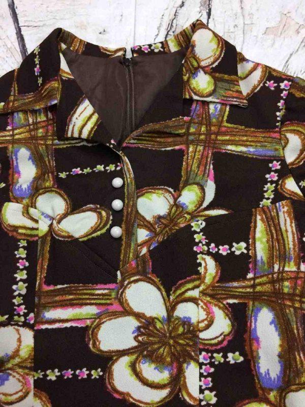 Robe Vintage Annees 70 Fleurs Seventies Gabba Vintage 3 rotated - Robe Vintage Années 70 Fleurs Seventies