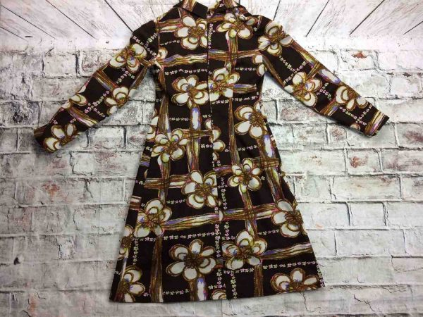 Robe Vintage Annees 70 Fleurs Seventies Gabba Vintage 5 rotated - Robe Vintage Années 70 Fleurs Seventies