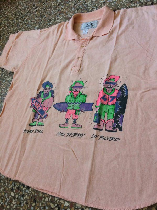 SAMINO Polo Vintage 80s Ski Fun Oversize Gabba Vintage 4 rotated - SAMINO Polo Vintage 80s Ski Fun Oversize