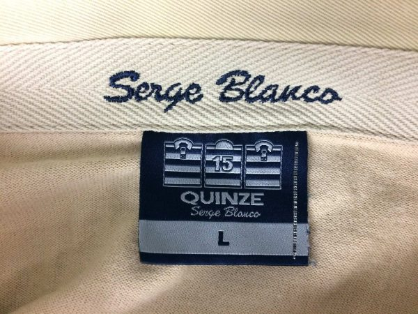 SERGE BLANCO Polo Vintage 90s Quinze Plage Gabba Vintage 6 rotated - SERGE BLANCO Polo Vintage 90s Quinze Plage